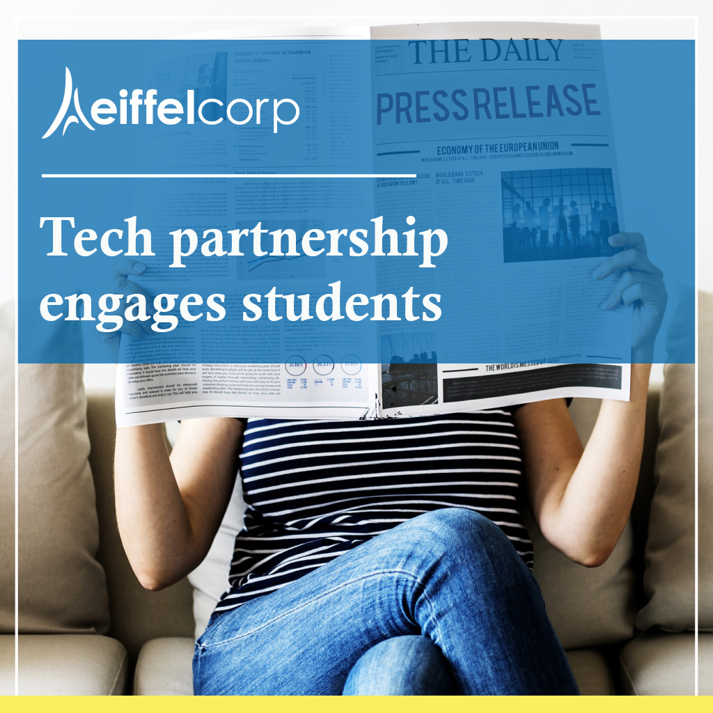 digital press release template - tech partnership engages students into campus life via